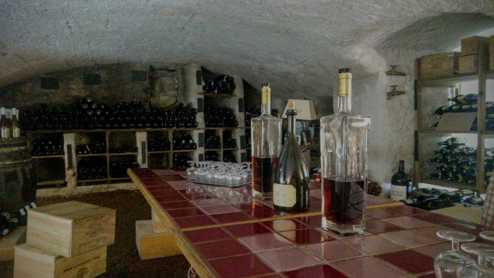 La cave du Château de Champlong