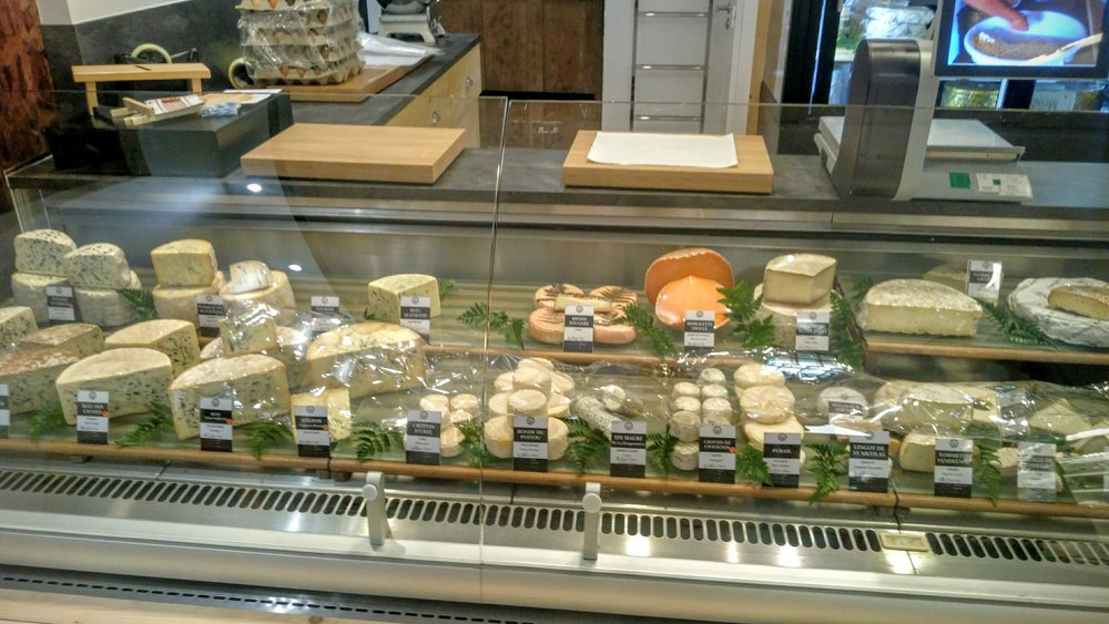 Cheese case at Mons Charlieu