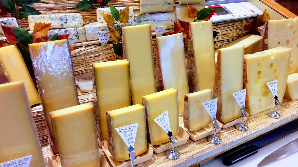 Comté lined up like soldiers at Cantin.