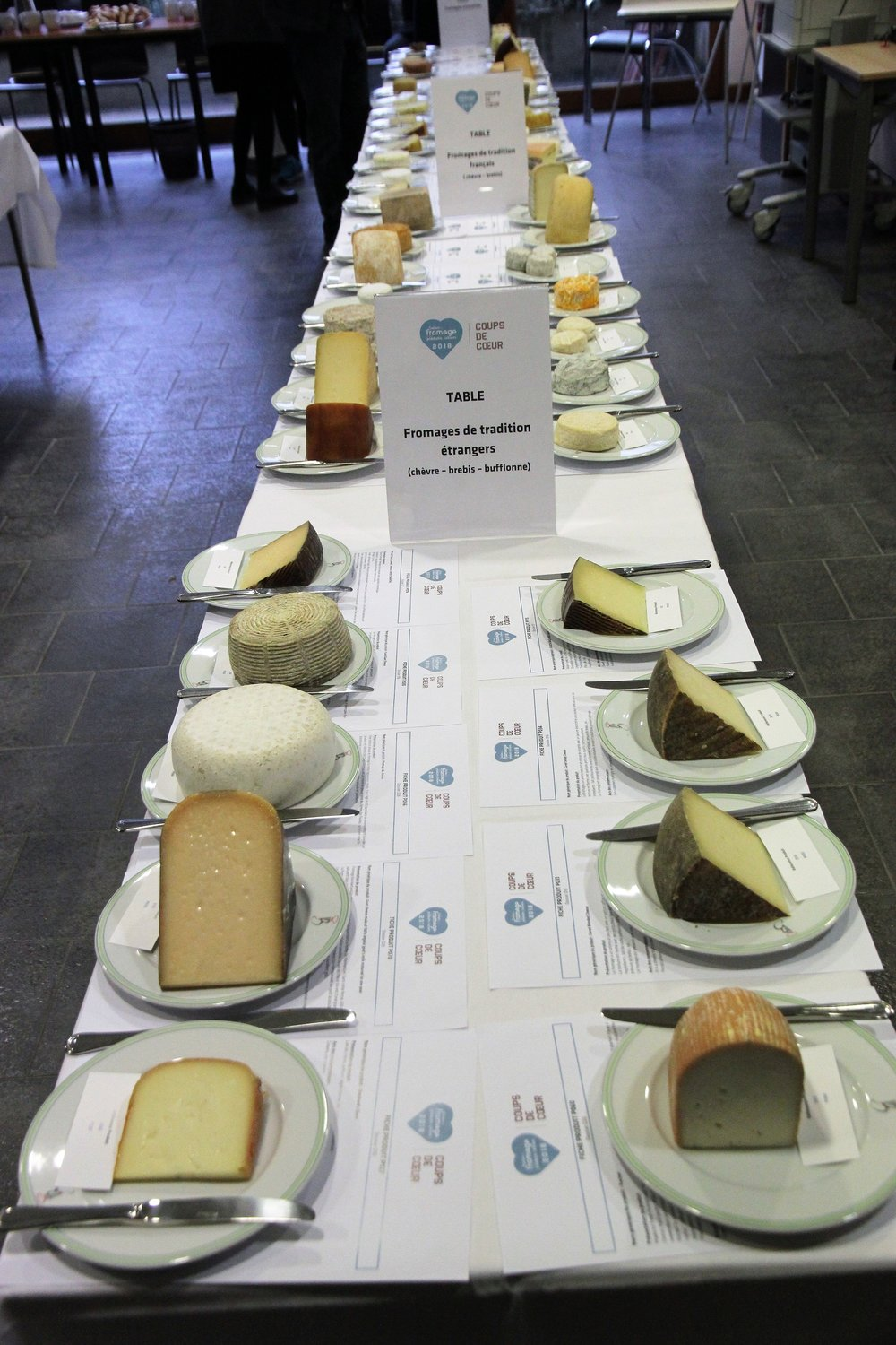 Table 3 -  my group judged most of the cheeses visible in this photo