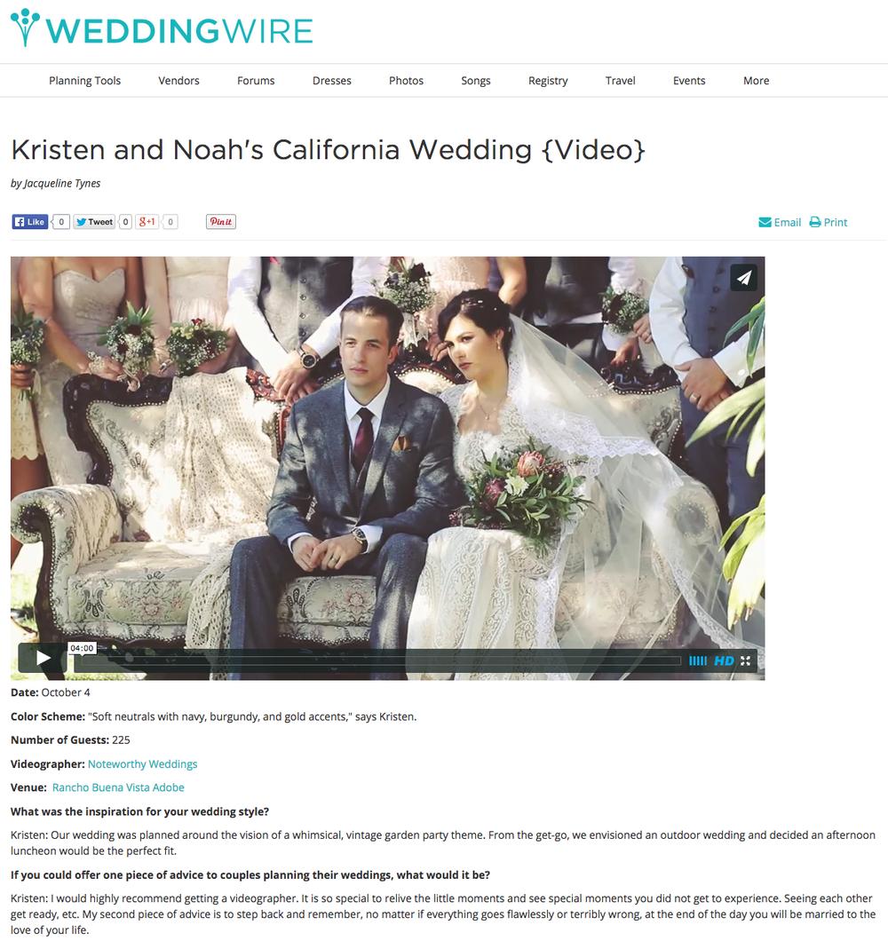 WEDDINGWIRE.COM FEATURES A NOTEWORTHY WEDDING — NOTEWORTHY WEDDINGS