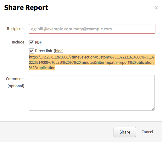 Report Share Feature