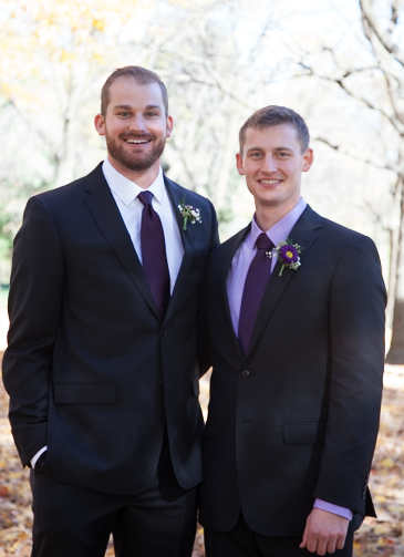 Steve & Tyler at Tyler's Wedding lastOctober.