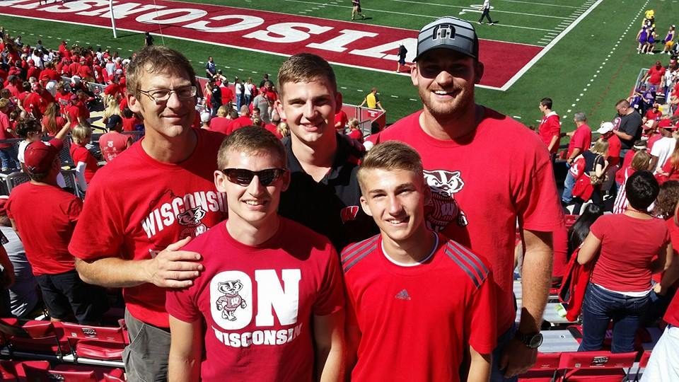 All of the Huenink boys in Madison for Tyler's bachelor party in September 2014.