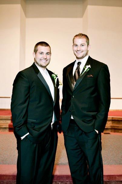 Jordan and Steve at Jordan's wedding in September 2011.