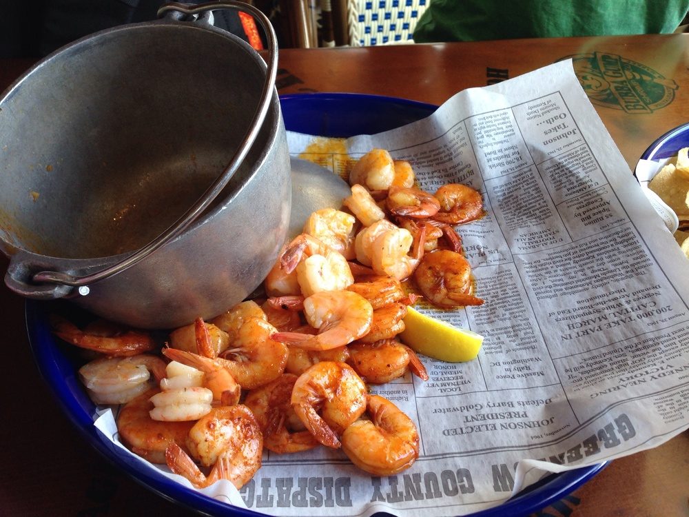 Small bucket of shrimp