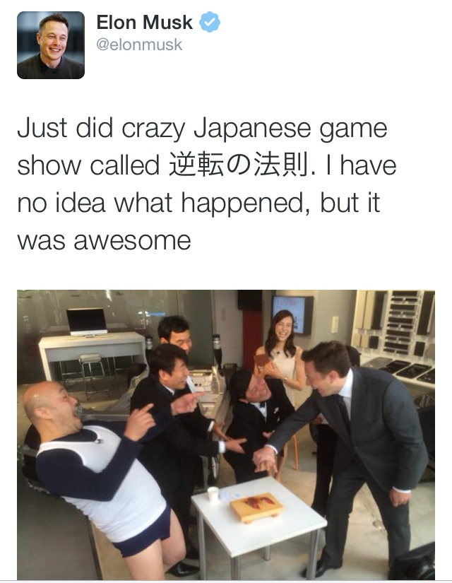 Japanese game shows (he's correct: they can be crazy)