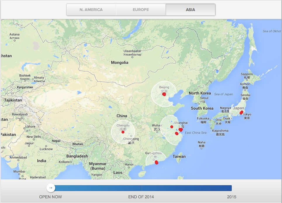 The Asian Superchargers map as of today 9/12/14