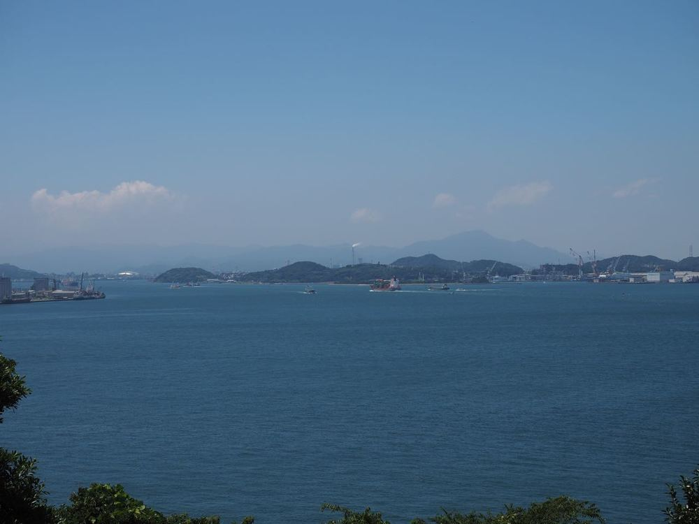 The view of Shimonoseki, Honshu from Mekari PA
