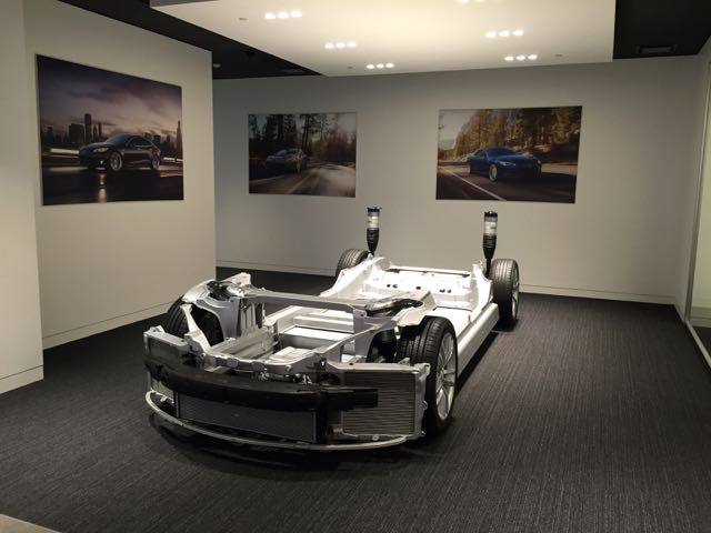 A Model S chassis; I like the front view because you can see the fans for cooling
