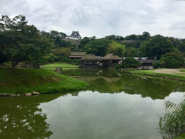 The grounds around Hikone Castle