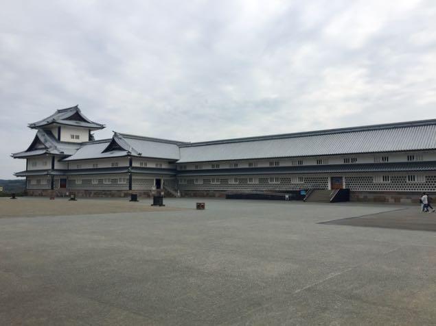 Kanazawa Castle Gate inside