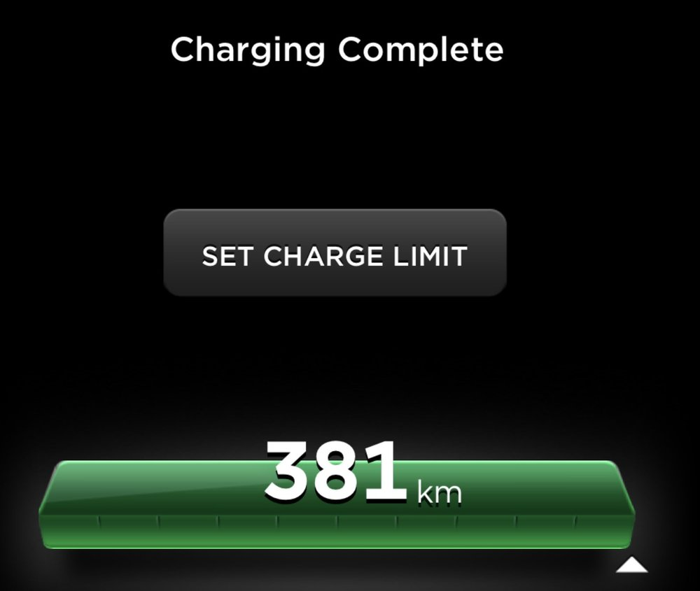 381: my lowest range charge yet