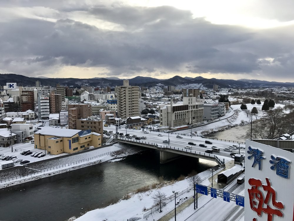 Downtown Morioka, -4 C atm