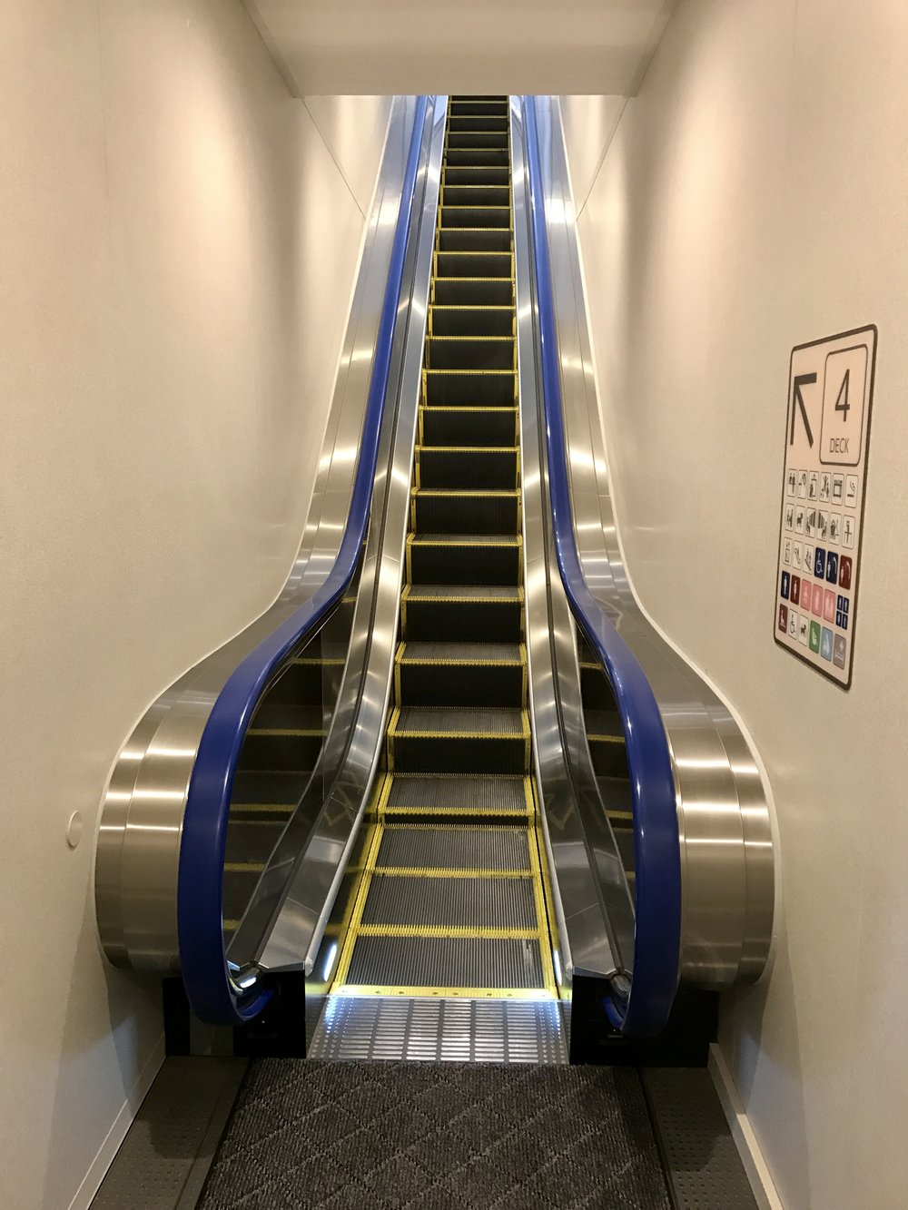 Escalators on a ferry!