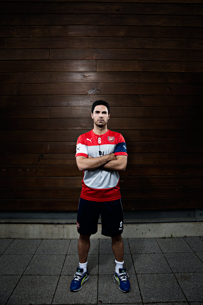 MIKEL ARTETA pictured at Arsenal FC's training ground for Times Sport.