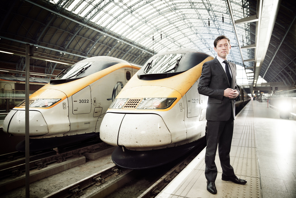 Nicolas Petrovic, chief executive of Eurostar poses for a photograph at the St Pancras International terminal.