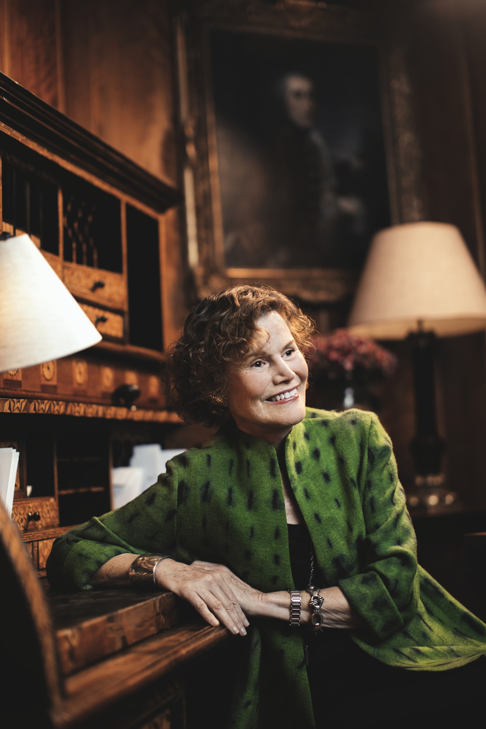 Author Judy Blume poses in the Covent Garden hotel - for Stephanie Marsh Interview.