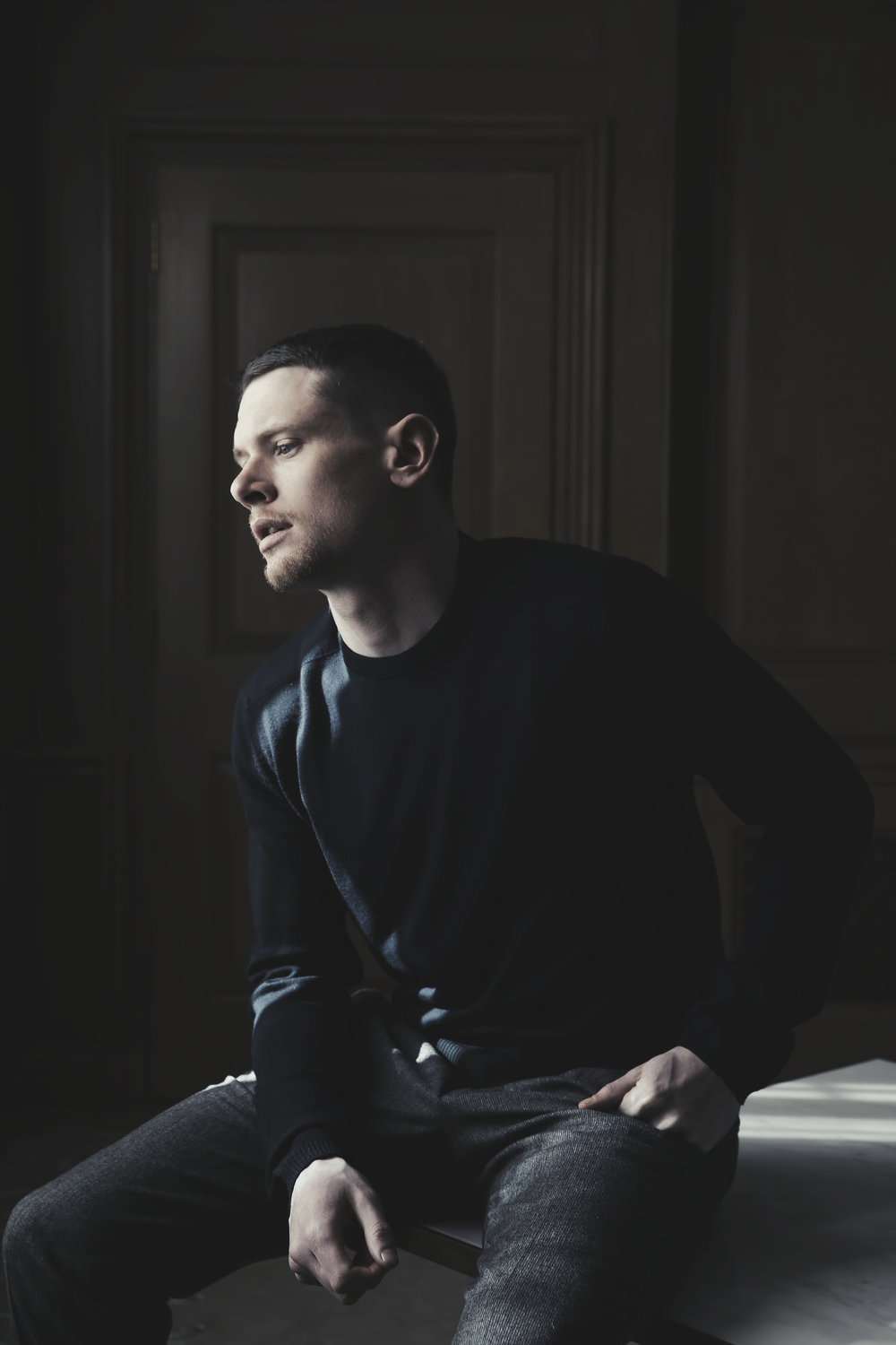 "Actor Jack O'Connell poses for portraits at the Dorchester hotel in Central London, for an article about ""Money Monster"". After losing money on a stock tip, a disgruntled investor (Jack O'Connell) holds a Wall Street guru (George Clooney) and a producer (Julia Roberts) hostage on live television."