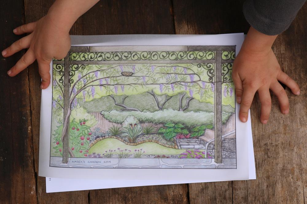 East Garden Perspective Sketch