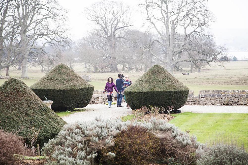 one final scene within Powderhams gardens