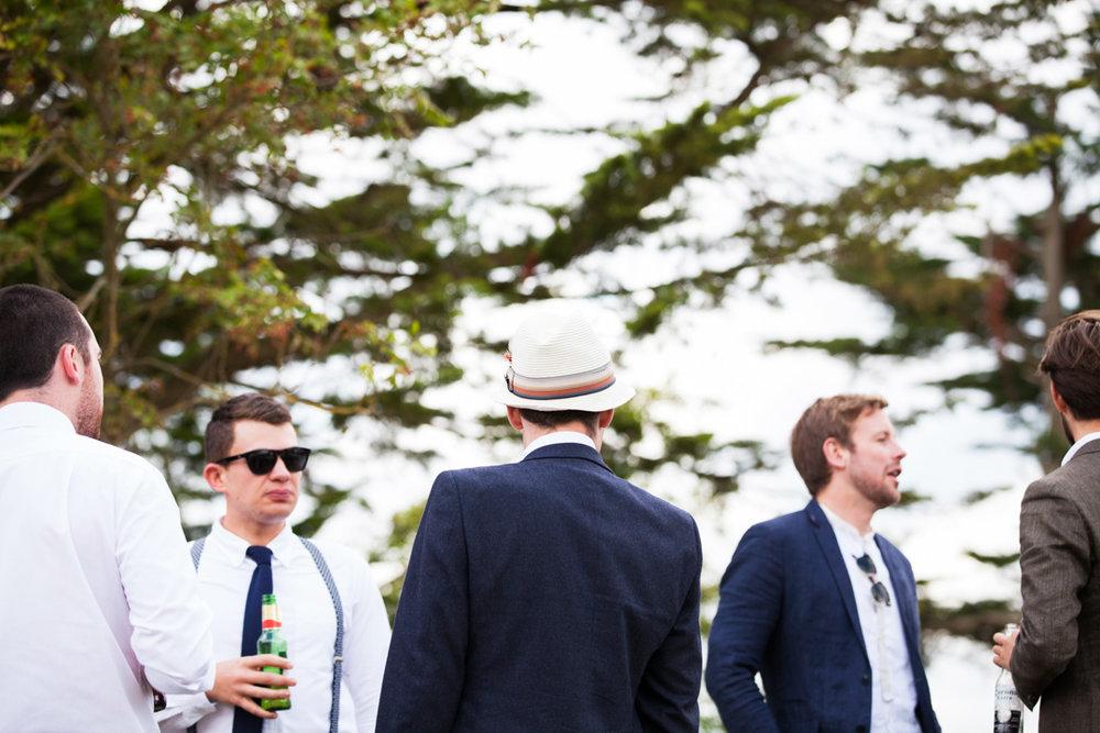 braces at wedding picnic