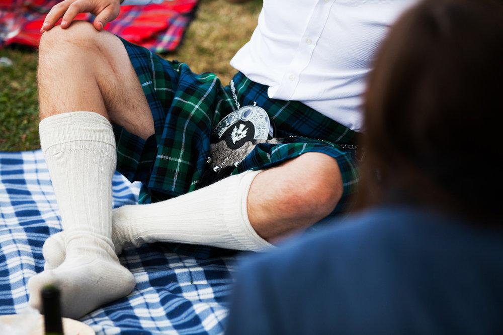 Scottish kilt at wedding