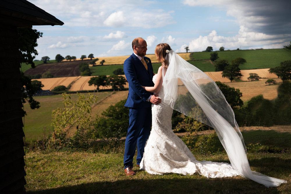 brides veil in the wind Higher Eggbeer