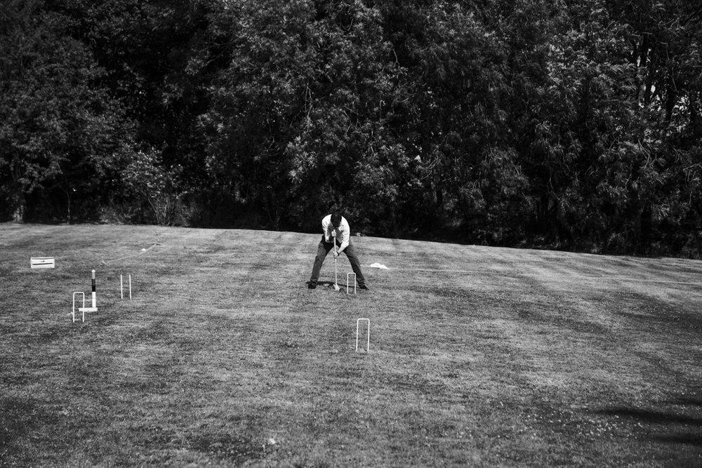 croquet at a wedding