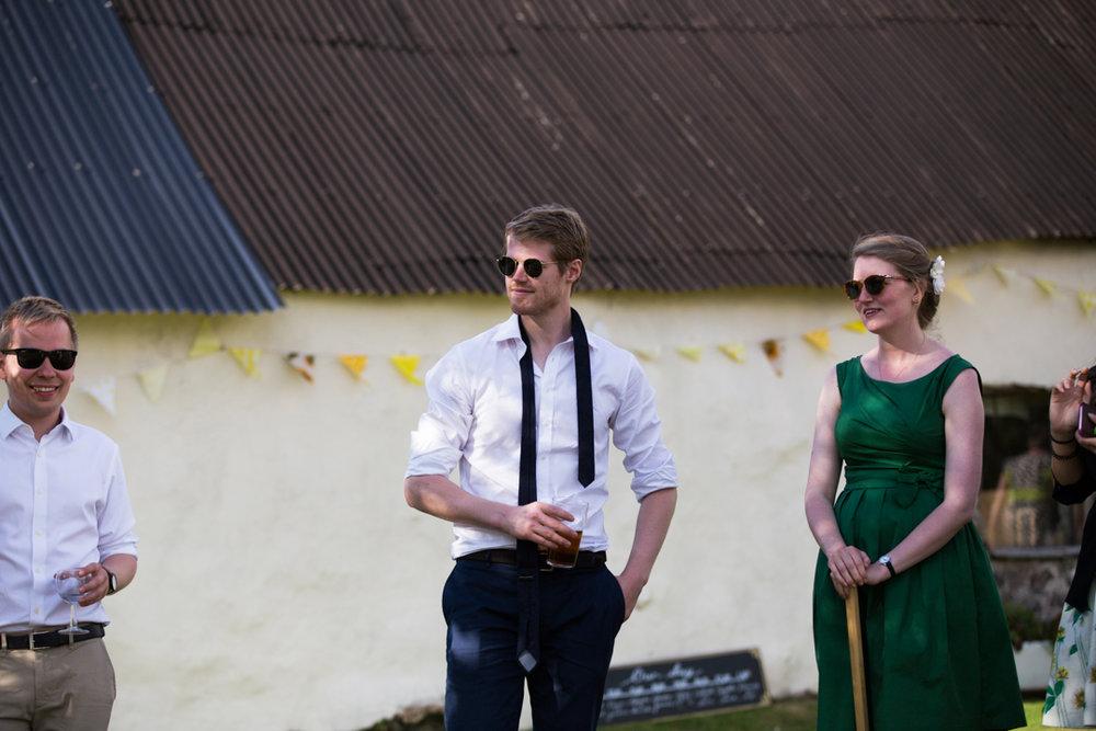 tie undone at wedding