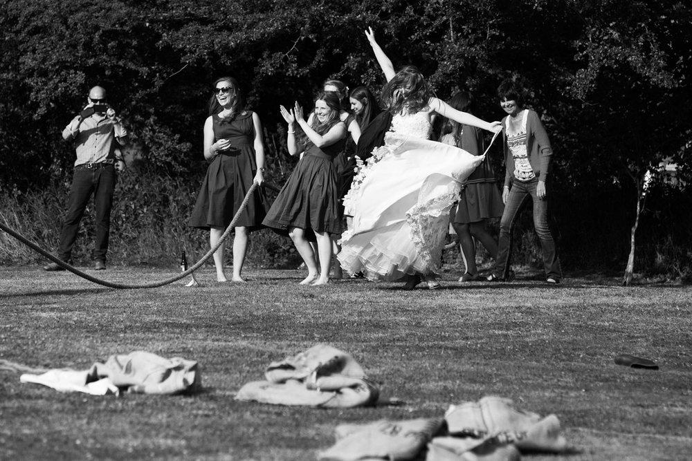 brides victory dance