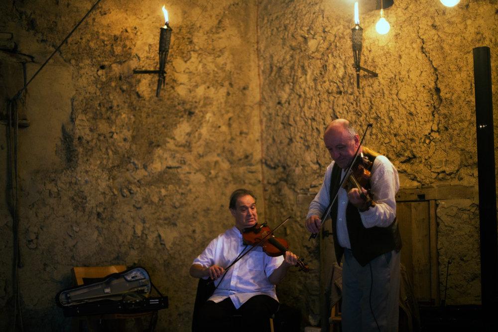 violin playing Higher Eggbeer Farm