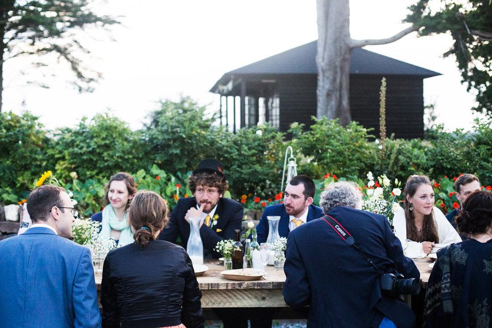 evening wedding reception Dartmoor