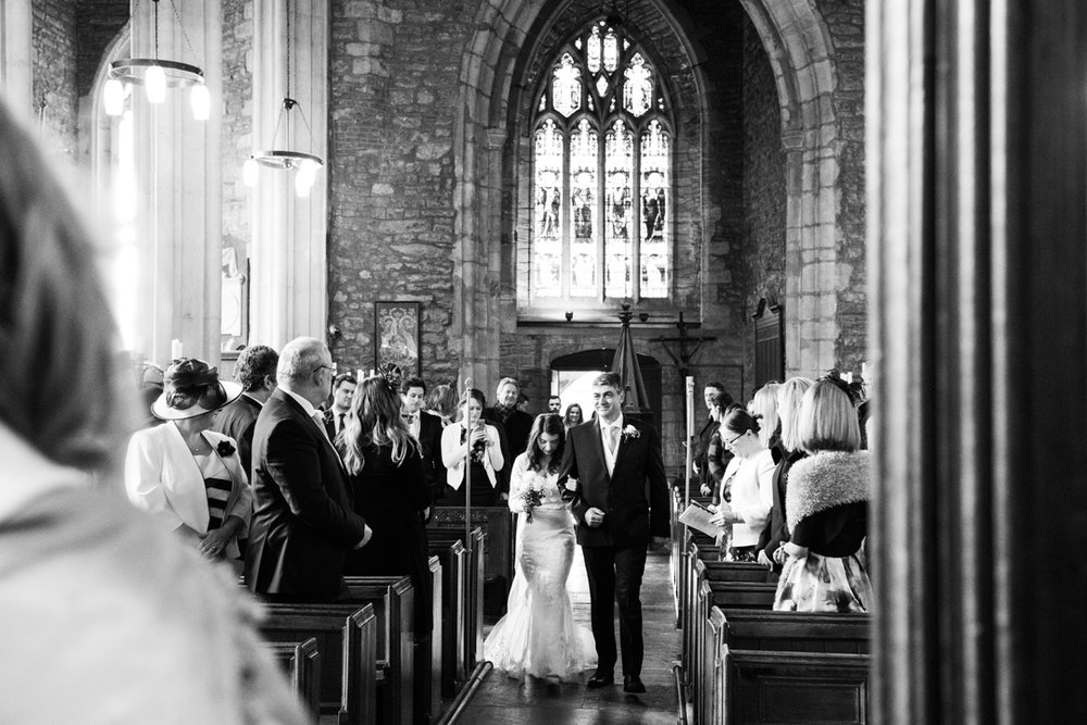walking down the Aisle The Church of St. Mary, Cannington, Somerset