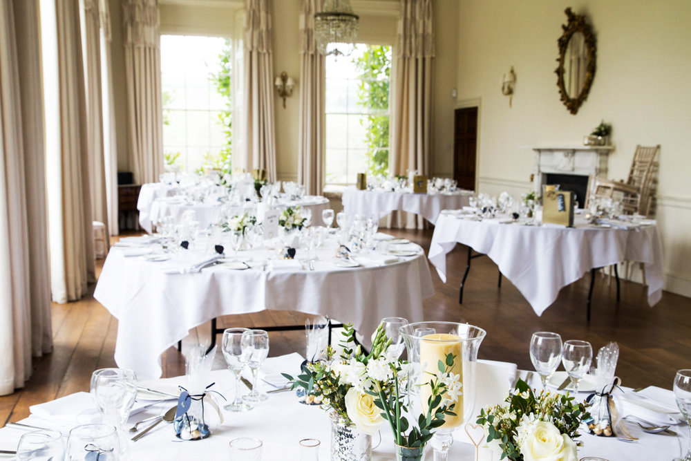 wedding breakfast room Pynes House EX5 5EF