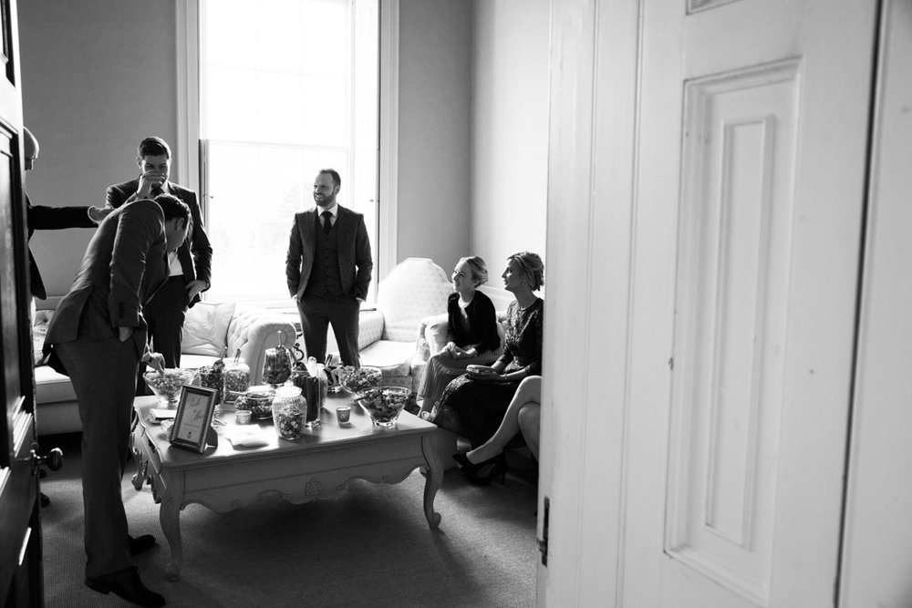 wedding guests before the ceremony