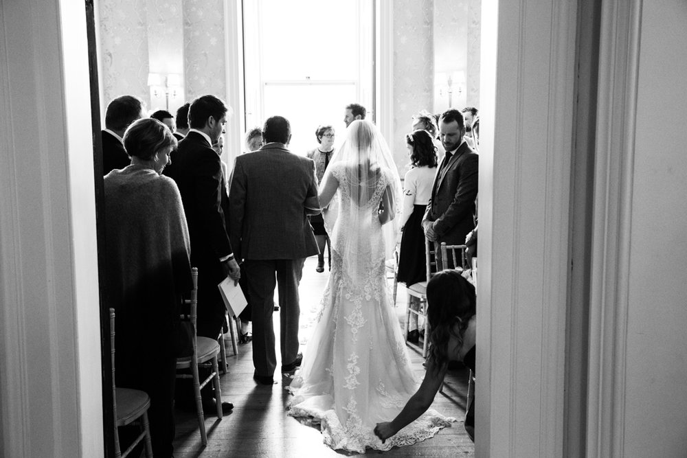 bride enters ceremony