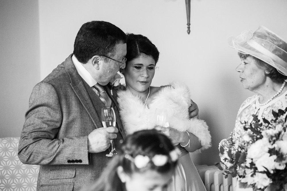 emotion at a wedding