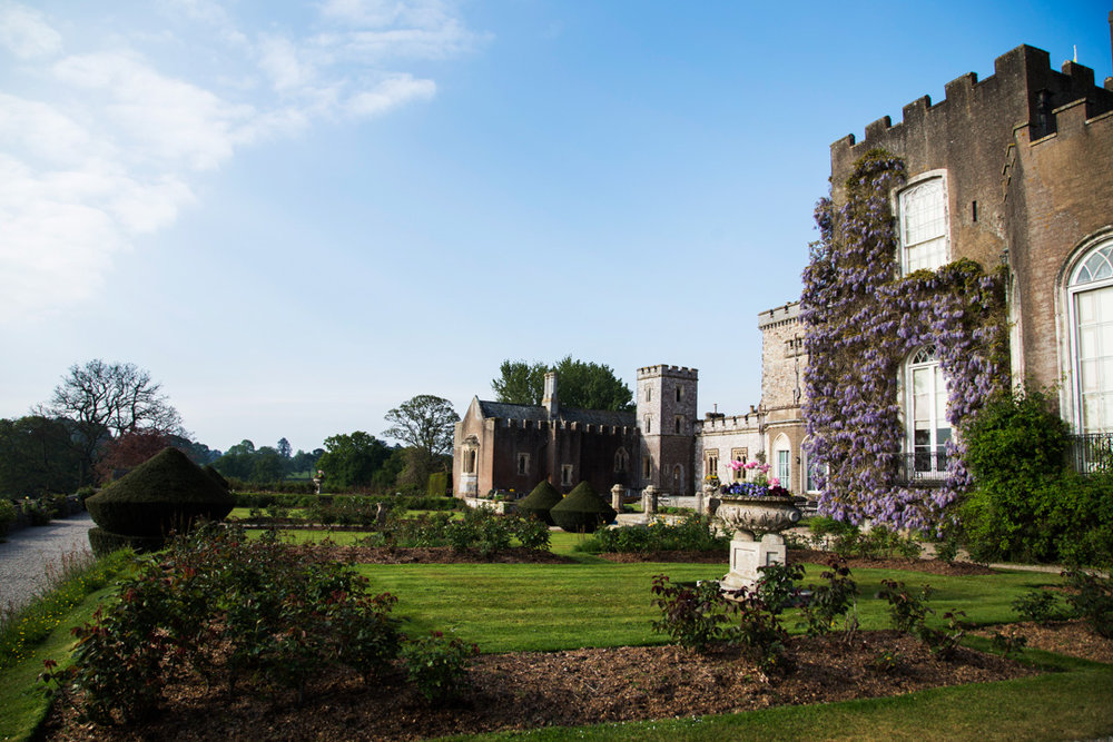 powderham castle wedding reception grounds