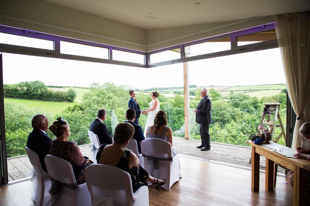 Treetop Escape wedding ceremony