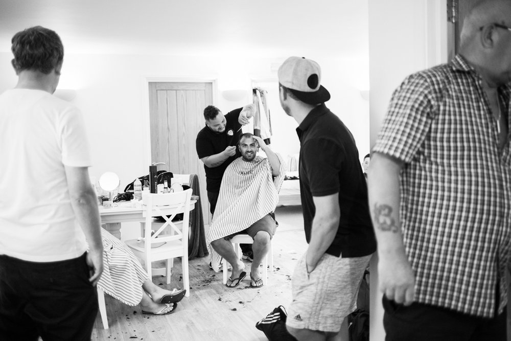 Fresh Kutz Barbers groomsmen