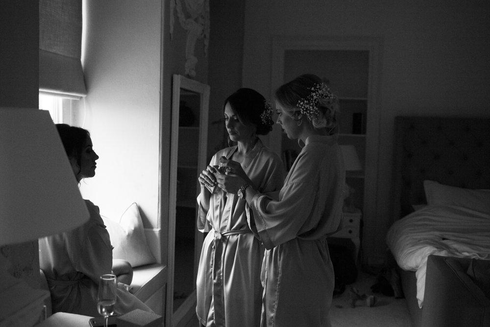 bridesmaids preparing Kingston Estate