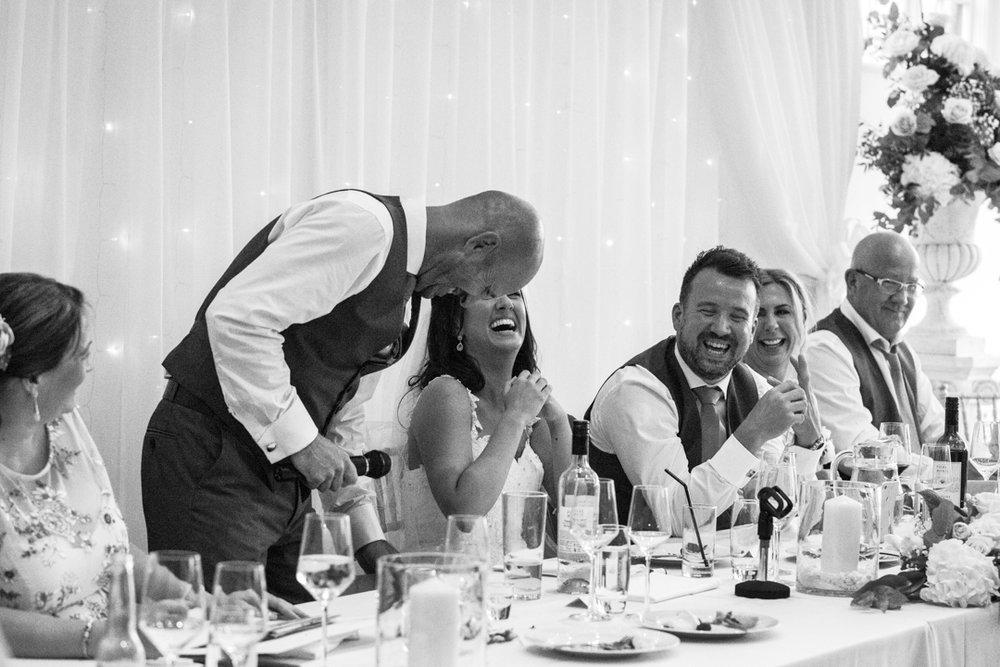 laughter at speeches Kingston Estate Devon