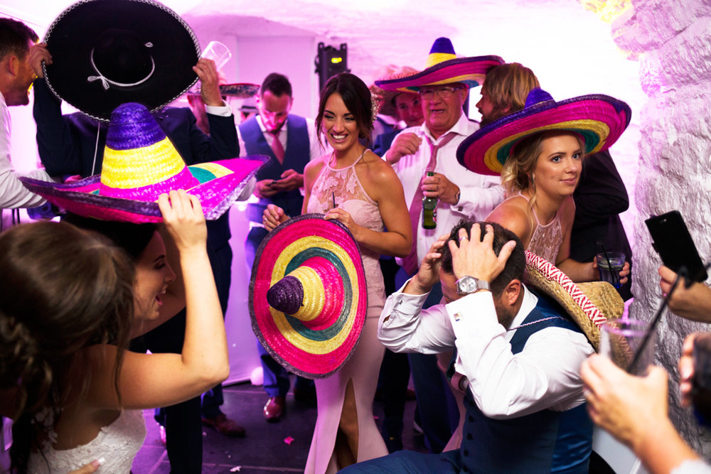 Mexican fancy dress at wedding