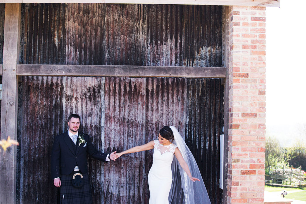 The Oak Barn Hittisleigh wedding