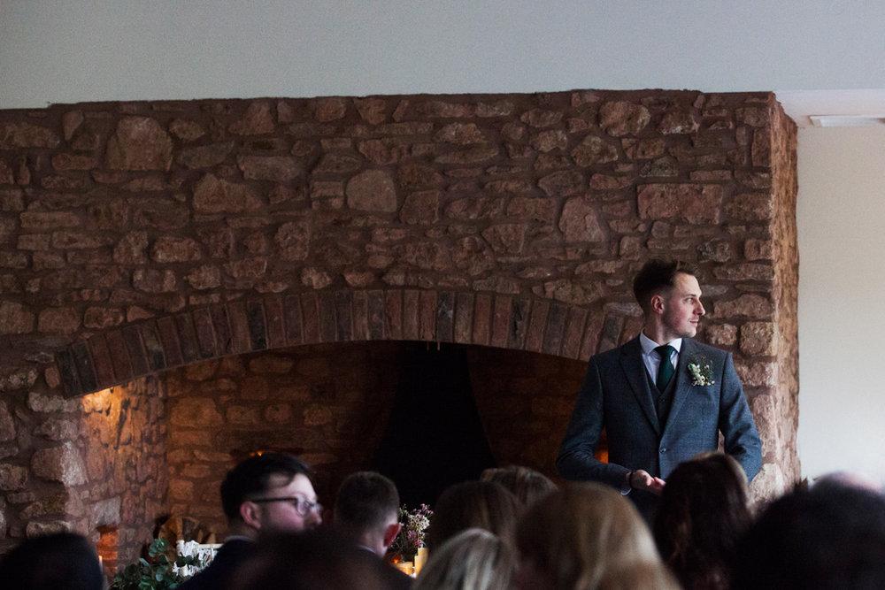 grooms awaits bride quantock lakes
