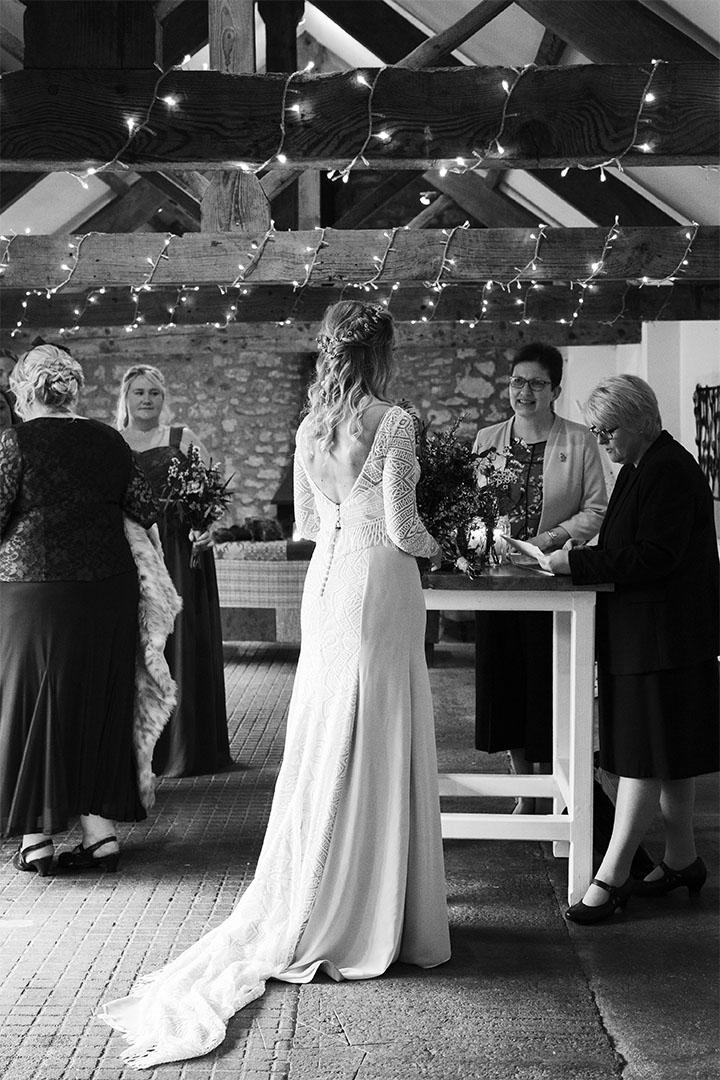 bride designed wedding dress