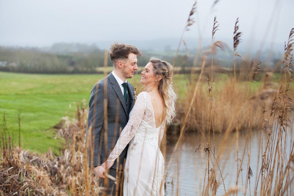 _bride and groom photoshoot quantock lakes