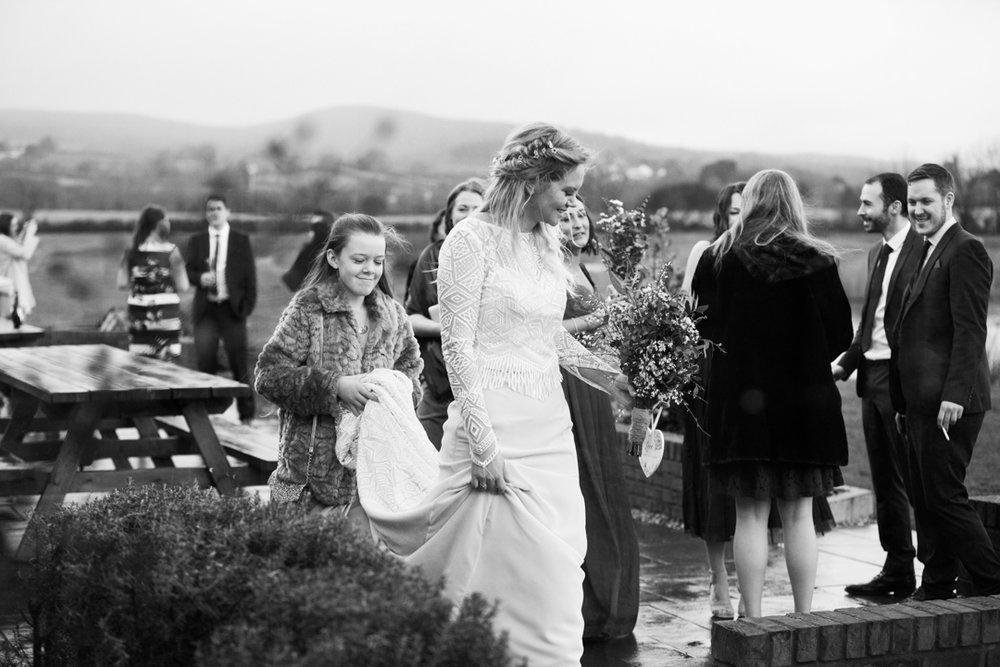 bridal dress train