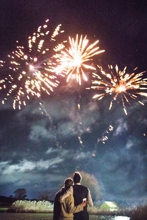wedding fireworks quantock lakes